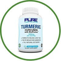 PURE Label Nutrition Turmeric Curcumin with BioPerine